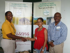 Regina King, GTA presented 2 retractable banners to Ms. Williams, Manager of the Ferry terminal.