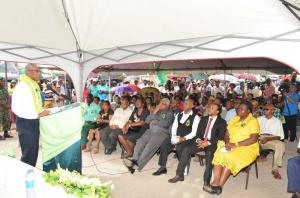 President David Granger addresses a rapt audience