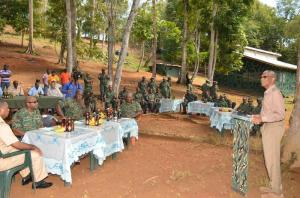 President David Granger addressing Officers and Soldiers at Location Eteringbang