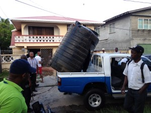 The water tanks in which the bandits hid. [iNews' Photo]