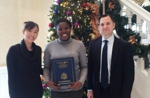 Nakisha Allen with U.S. Department of State Officials