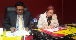 Former Attorney General, Anil Nandlall and PPP Parliamentarian, Gail Teixeira. [iNews' Photo]