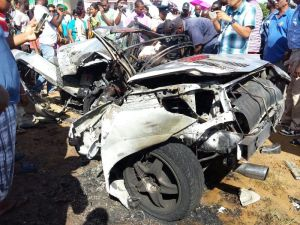 The vehicle in which the two men died. [iNews' Photo]