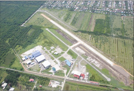 An aerial view of Ogle Airport