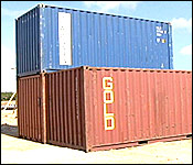 The three containers of rice from Guyana on its arrival in Belize (7NewsBelize.com photo)