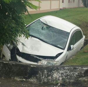 The car that was involved in the accident