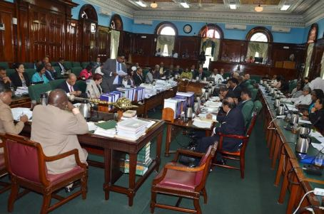 Debate on the 2016 Budget started today in the National Assembly (Carl Croker photo)