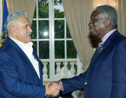 Indian businessman Vijay Mallya recently met with Prime Minister Freundel Stuart