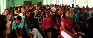 A section of the audience at one of the session in Essequibo