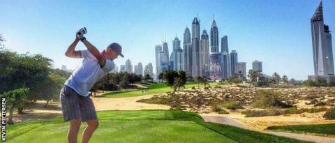Pietersen plays golf all over the world