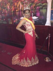 Newly-crowned Queen Nandita Dasrath