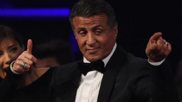 Sylvester Stallone is a lock for the Best Supporting Actor Oscar — but will we understand a word of his speech? Picture: AFP / Mark RalstonSource:AFP