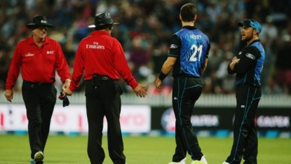 Former test umpire Dave Quested says the officials followed correct protocol in giving Mitchell Marsh out in Monday's heated ODI at Seddon Park.