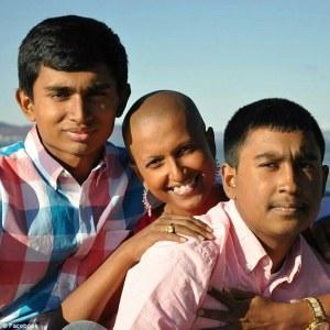 Shivonie Deokaran and her sons (Daily Mail photo)