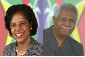 Guyana's new High Commissioner to Canada, Clarissa Sabita Riehl and new High Commissioner to the UK, Frederick Hamley Case