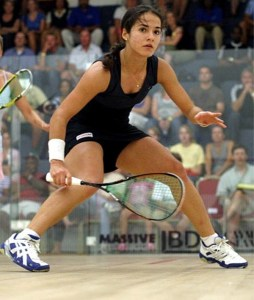 Nicolette Fernandes lost in straight sets to Jenny Duncalf of England