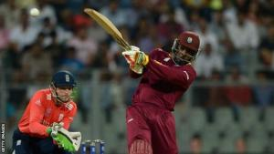 Chris Gayle's century against England was his second in T20 Internationals