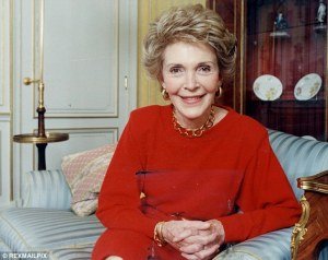 Former first lady of the United States of America, Nancy Reagan