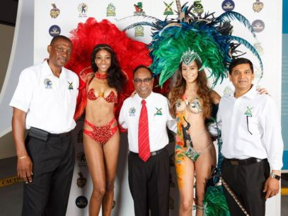 Guyana Amazon Warriors. In photo, from left (males) – Roger Harper, Omar Khan, Dr. Bobby Ramroopa gala ceremony in Barbados