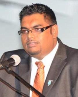 Former Minister of Housing and Water Irfaan Ali
