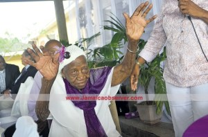 Supercentenarian Violet Moss Brown (File photo, Jamaica Observer)