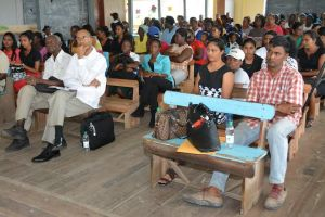 A section of the gathering at the 'Face the Community' meeting in Region Six