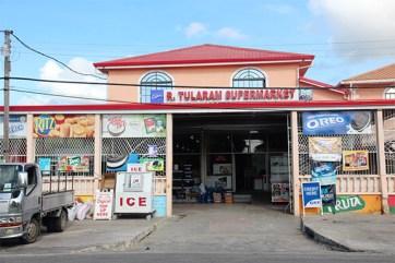 R. Tularam Supermarket (Stabroek News photo)