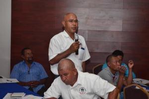 Joel Fredericks, Chairman, National Toshaos Council (NTC) seeking a clarification