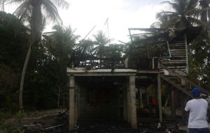The house in Linden destroyed by fire