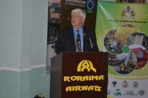 Dr Russell Mittermeier, President Emeritus and Executive Vice Chair of Conservation International during his presentation