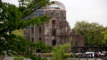 The atomic bomb dome. Some 140,000 are believed to have died in the attack on Hiroshima