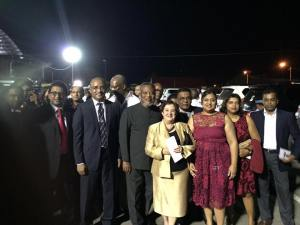Opposition Leader, Bharrat Jagdeo along with other members of the PPP/C walked out of the Flag Raising Ceremony on Wednesday evening