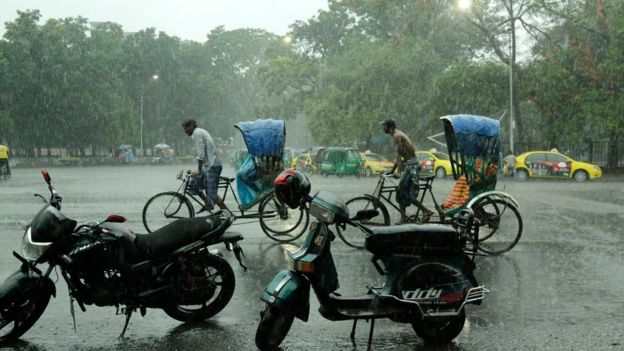 Storms have lashed parts of Bangladesh following a heatwave (BBC photo)