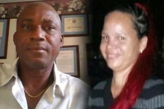 Easton Douglas (left) apparently shot his on-again, off-again girlfriend Tamara McIntosh before turning the gun on himself. (Credit: Jamaica Gleaner)
