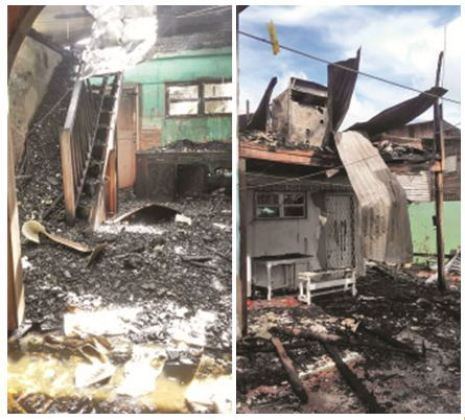 These photos show the extent of the damage