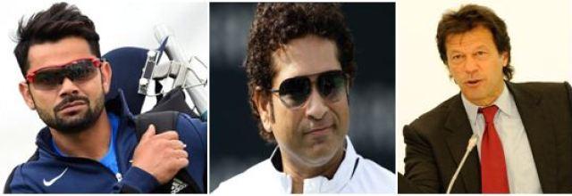 Virat Kohli, Sachin Tendulkar and Imran Khan