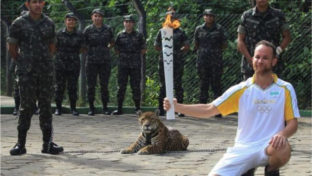 The jaguar had been used during an Olympic torch ceremony at the zoo