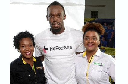 Usain Bolt has thrown his support behind the HeForShe campaign (Photo: Paul Mullings/ Jamaica Observer)