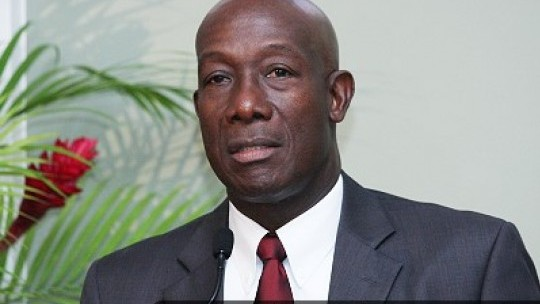 T& T Prime Minister Dr Keith Rowley