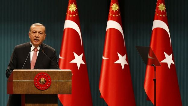 """President Erdogan praised """"heroic acts of bravery"""" in resisting the coup (Reuters photo)"""