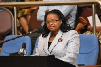 Minister of Social Protection, Hon. Volda Lawrence