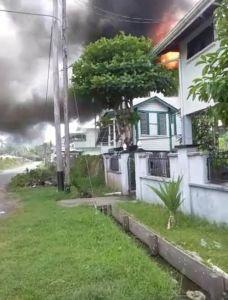 The nurses home on fire