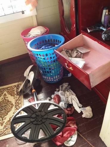 A ransacked room