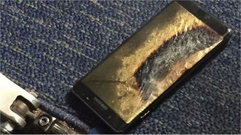 This Samsung phone led to a flight being evacuated (BBC photo)