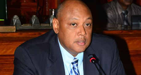 Natural Resources Minister Raphael Trotman