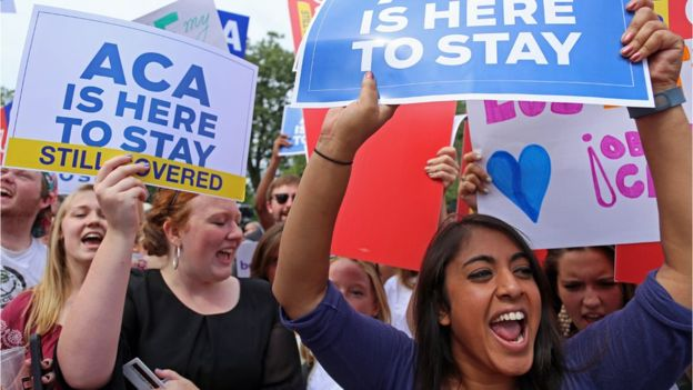 Obamacare survived a US Supreme Court challenge in June 2015 (AFP photo)
