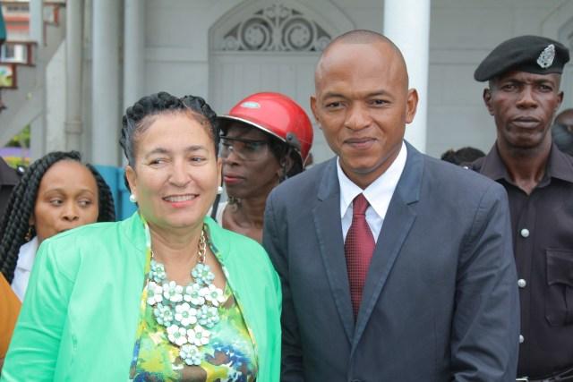 Mayor Patricia Chase-Green (L) and Deputy Mayor Sherod Duncan (R)