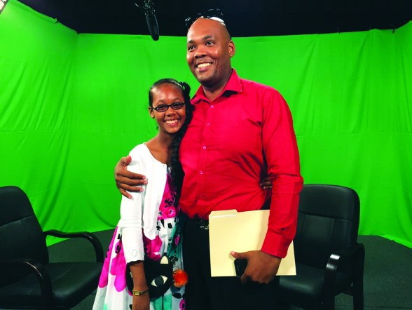 Mikelle Brutus and her father, Michael Brutus