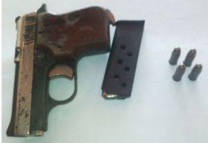Firearm and ammo found at Konawaruk Backdam, Mahdia