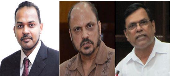 Dr Frank Anthony, Dr Bheri Ramsaran and Dr Vishwa Mahadeo